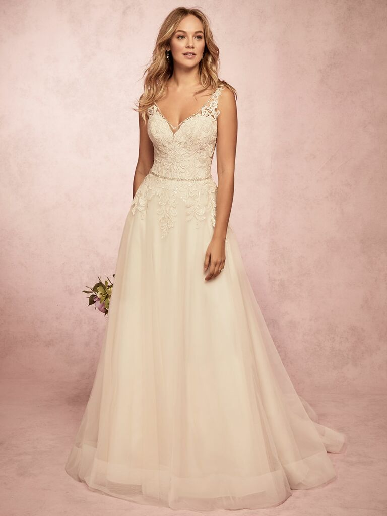 Rebecca Ingram Spring 2019 lace and tulle wedding dress