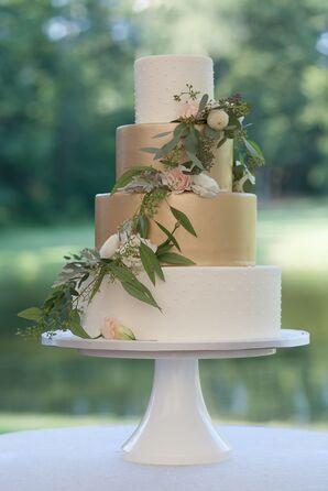 Gilded Carrot Wedding Cake