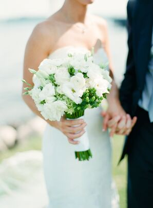 White Bridal Bouquet with Ranunculus