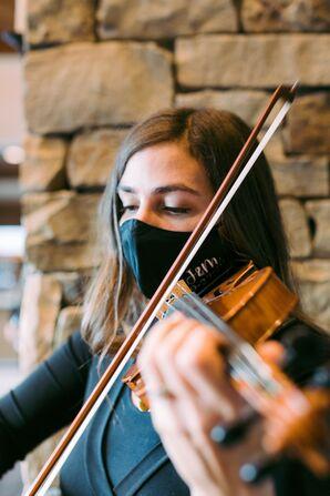 Violin Player at Stein Eriksen Lodge in Park City, Utah