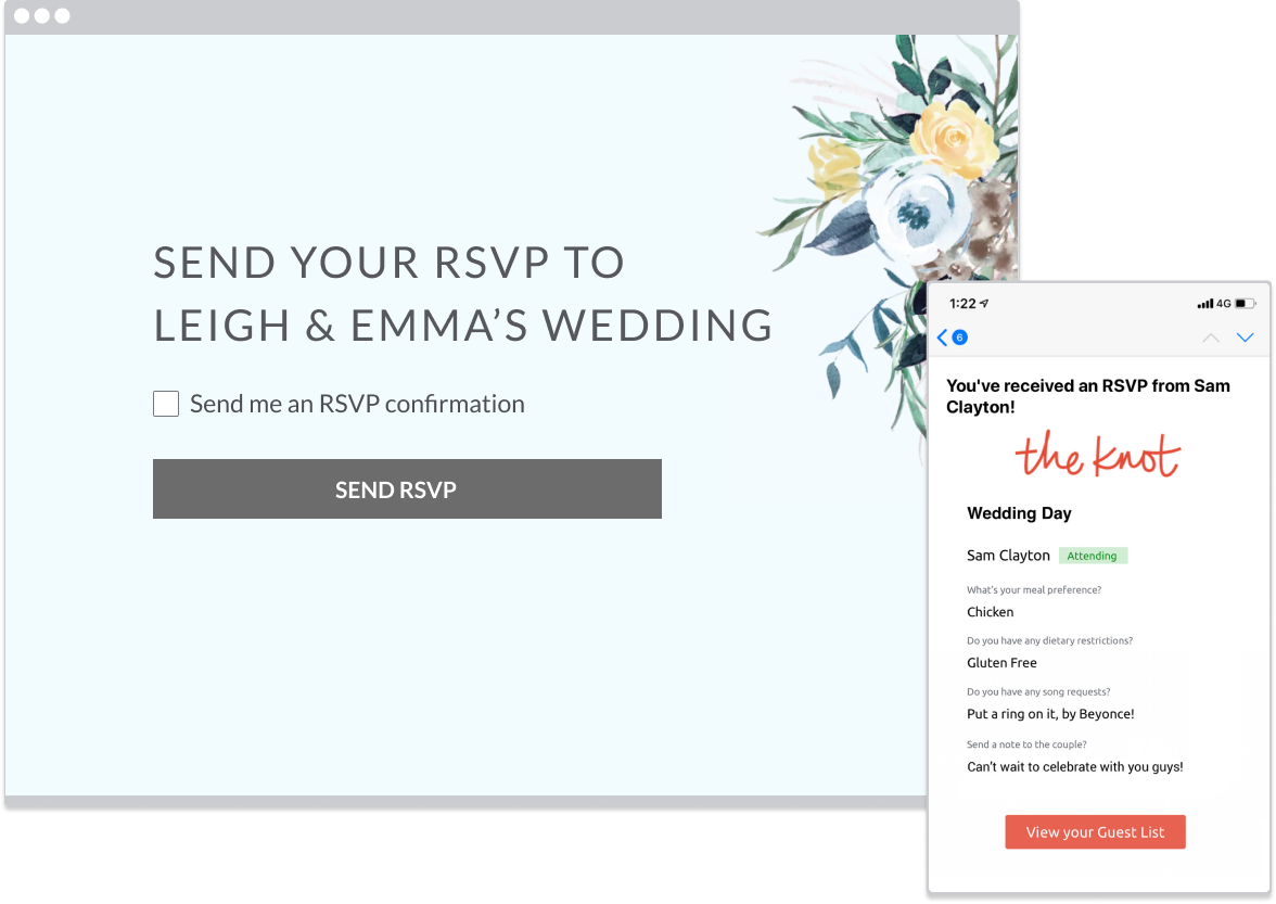 RSVP feature