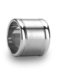 Mens Tungsten Wedding Bands W627-FBCW Tungsten Wedding Ring