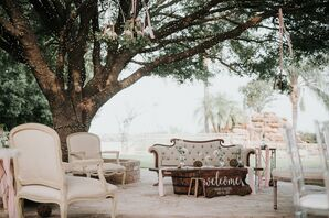 Romantic Outdoor Reception Lounge Area