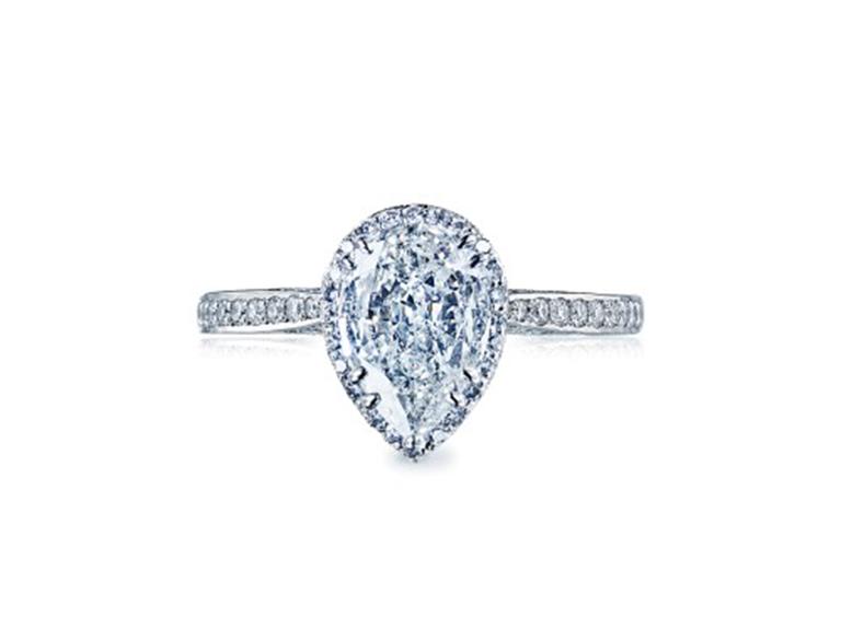 pear-shaped engagement ring Tacori Dantela engagement ring
