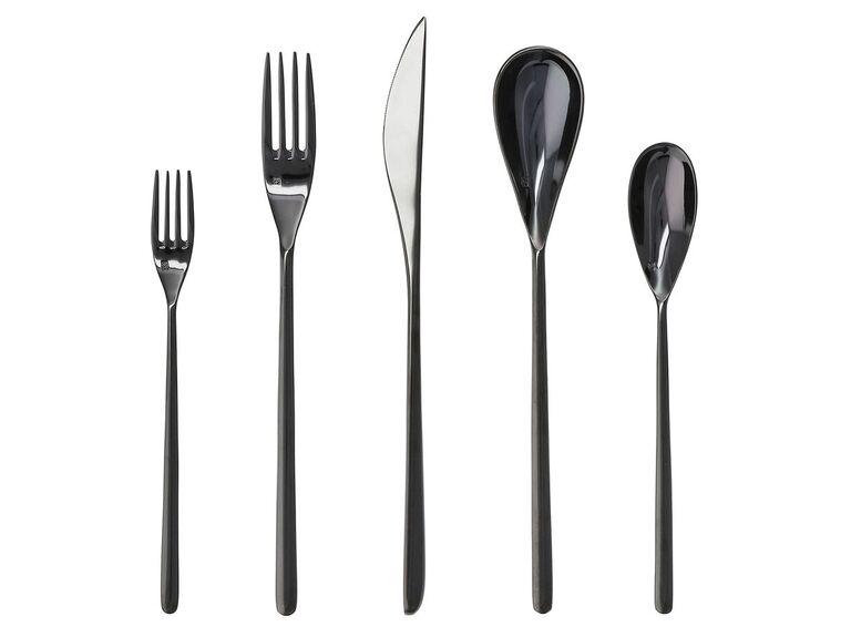 Modern black silverware set five-year anniversary gift idea