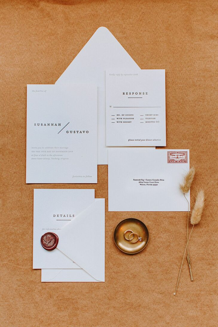 Simple Black-and-White Invitations with Typography