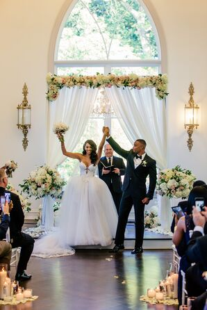 Couple Celebrating with Guests at Ceremony