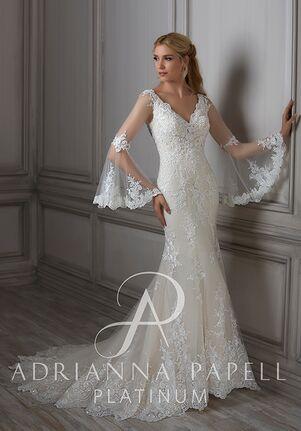 Adrianna Papell Platinum Flora Mermaid Wedding Dress