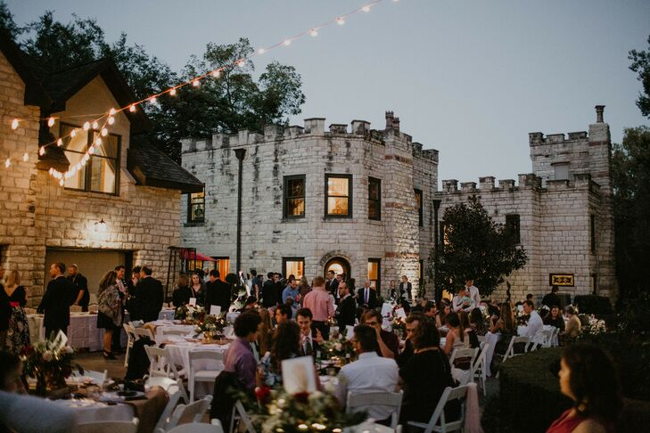 Casual Outdoor Reception on Castle Lawn
