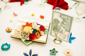 Whimsical Handmade Paper-Flower Centerpieces