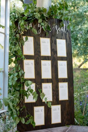 DIY Seating Chart at Garden Reception