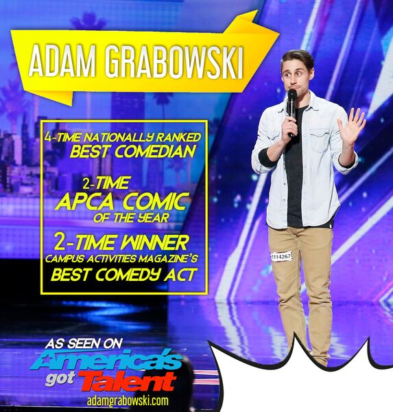 2019 Comic of the Year - ADAM GRABOWSKI - Stand Up Comedian - Chicago, IL