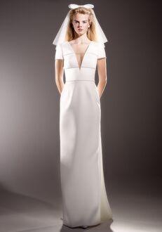 Viktor&Rolf Mariage IMMACULATE BOW BACK COLUMN Sheath Wedding Dress