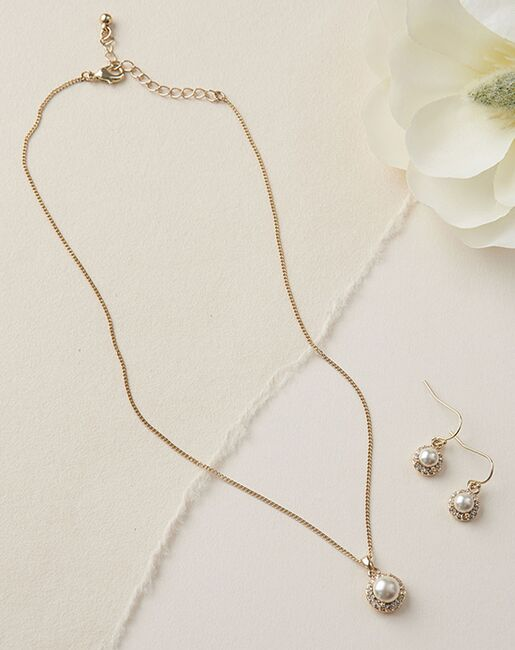 Dareth Colburn Swarovski Pearl Jewelry Set (JS-7109) Wedding Necklaces photo