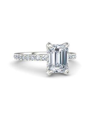 Gemvara - Customized Engagement Rings Glamorous Emerald Cut Engagement Ring