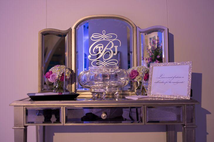 Mirrored Furniture With Custom Monogram Decal