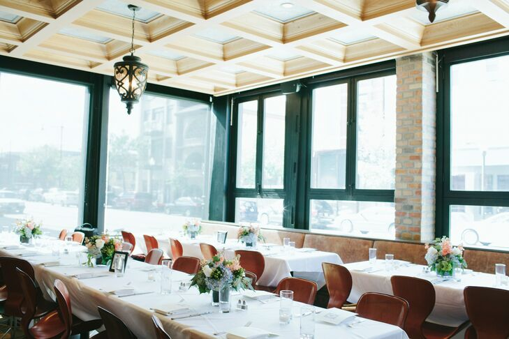 """""""Nightwood is one of our favorite places to eat in the city because of the farm-to-table, locally-sourced menu,"""" the bride says. """"We particularly love brunch there and wanted to share our love of the location with our guests."""""""