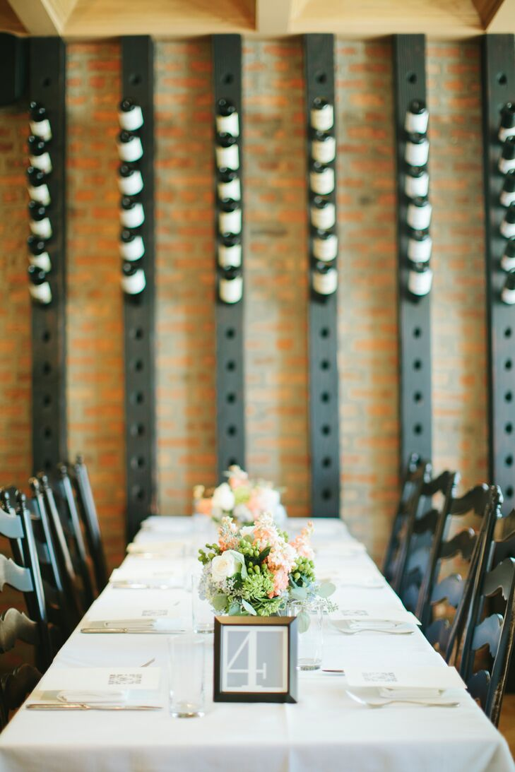 """The couple wed at the Nightwood restaurant in Pilsen. """"We wanted a location that felt special to us and a place that was comfortable on our wedding day,"""" Devon says."""