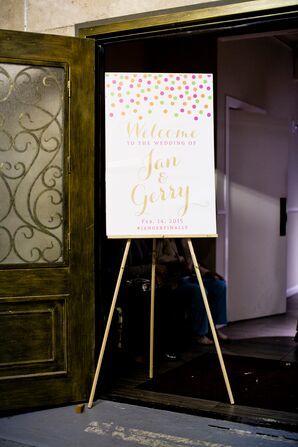 Whimsical Confetti Welcome Sign