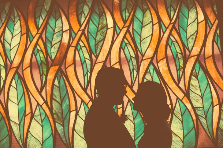 Stained Glass Couple's Shot