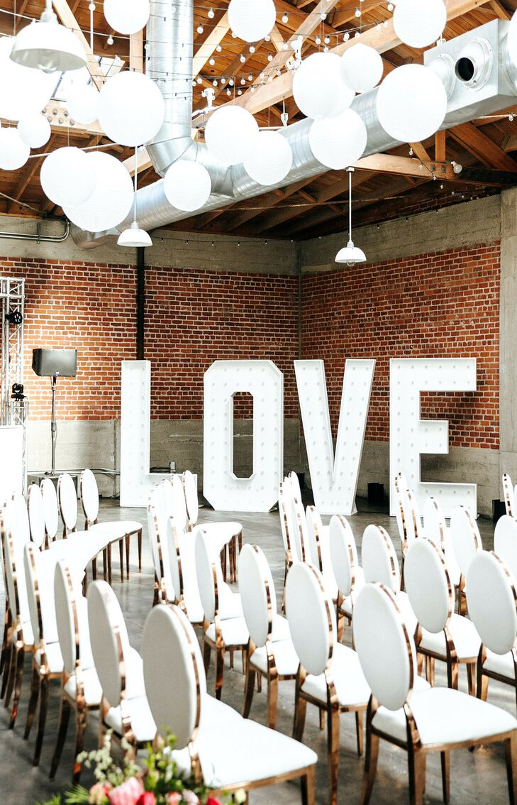 Marquee Letters for Reception at Sandbox in San Diego, California