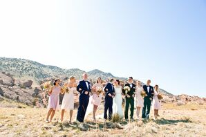 Outdoor Wedding Party Photo