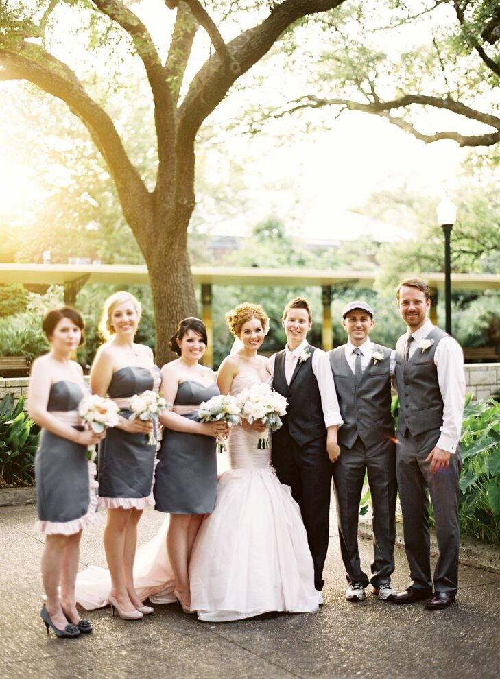 Soft Gray Bridal Party Attire