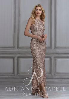 Adrianna Papell Platinum 40110 Halter Bridesmaid Dress