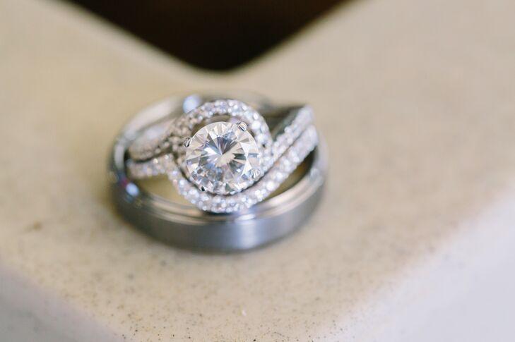 Silver Wedding Rings, Elegant Engagement Ring