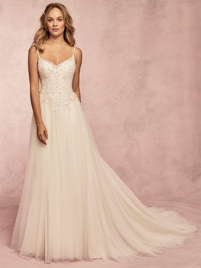 Rebecca Ingram Spring 2019 tulle and beaded wedding dress