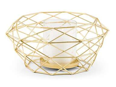 ​The Knot Shop modern gold geometric metal table centerpiece