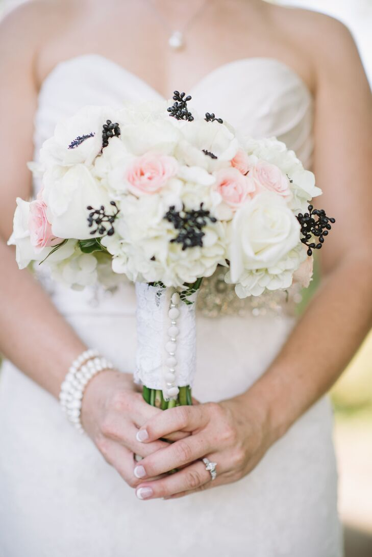 Timeless Rose Bouquet with Lace Button Wrap
