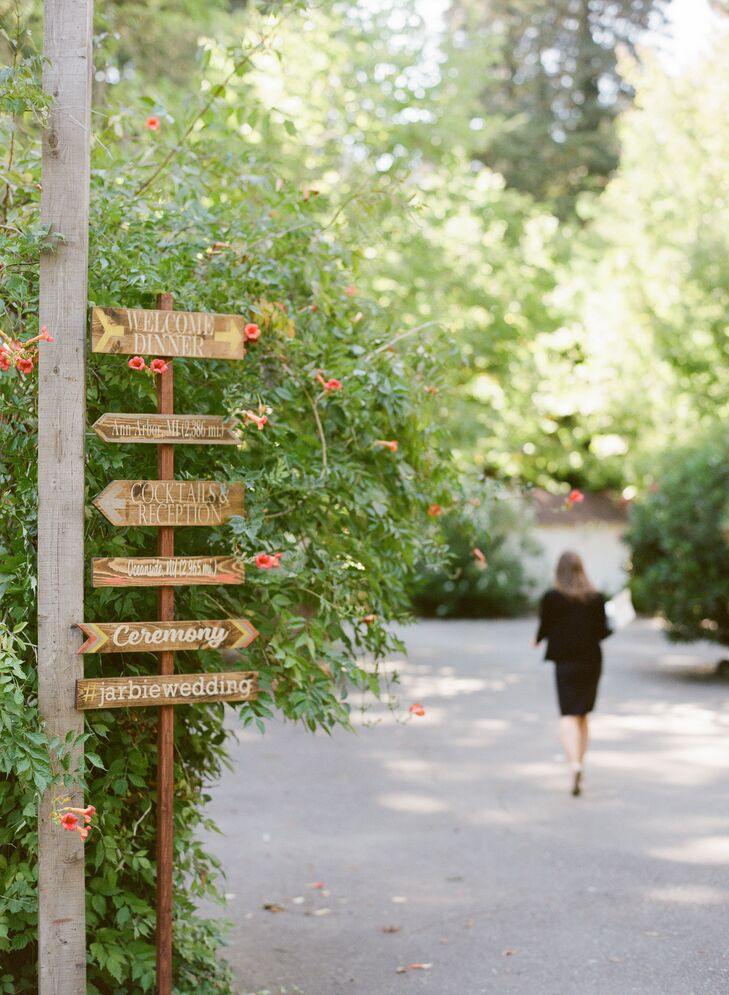 Tall Wooden Wedding Sign