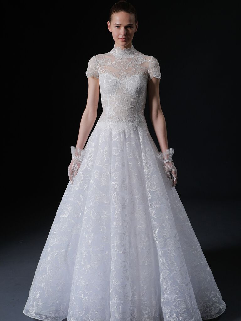 Isabelle Armstrong Spring 2020 Bridal Collection cap sleeve A-line lace wedding dress