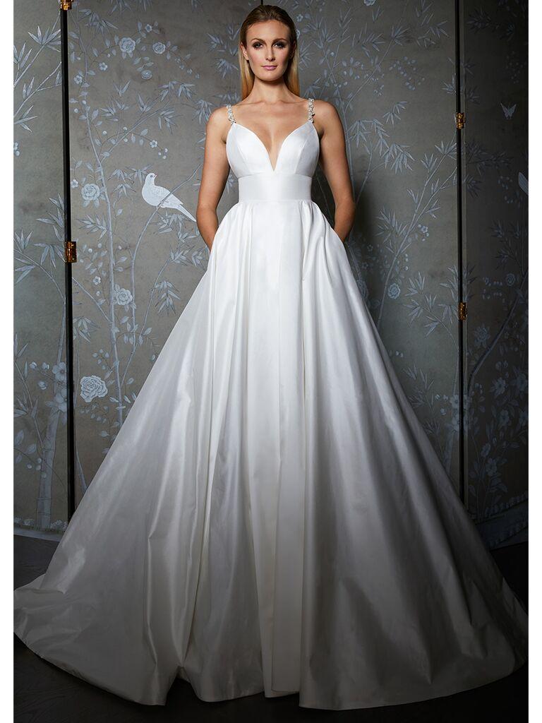 Legends by Romona Keveza wedding dress thin strap ball gown