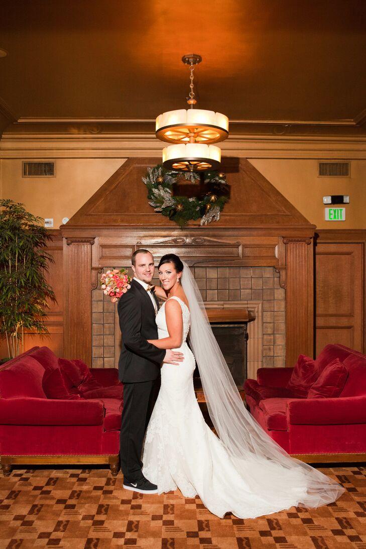 Classis Couple Shot Inside Wedding Venue