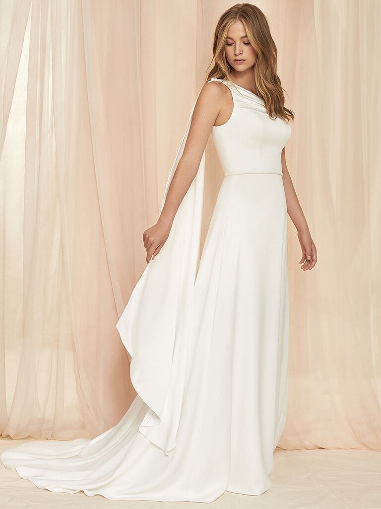 Savannah Miller fit-and-flare gown
