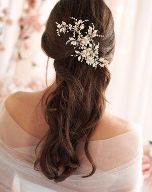 Dareth Colburn Nina Pearl & Flower Hair Clip (TC-2314) Gold