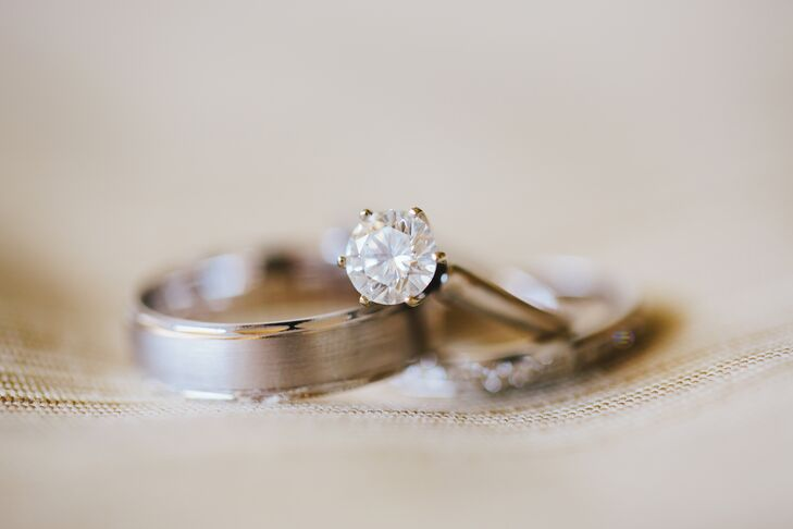 Traditional Set Silver Wedding Rings