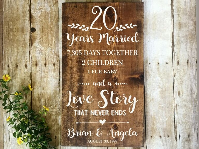 Relovedsigns 20 Years Married Sign