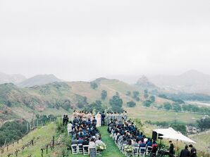 Mountain Ceremony at Saddlerock Ranch in Malibu, California