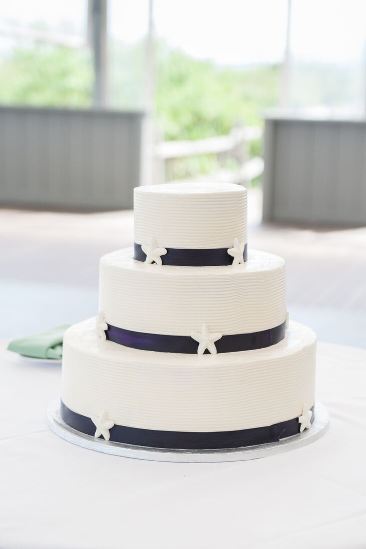 Buttercream Wedding Cake With Starfish