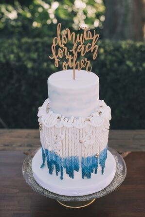 Macrame-Inspired Boho Wedding Cake with Cake Topper