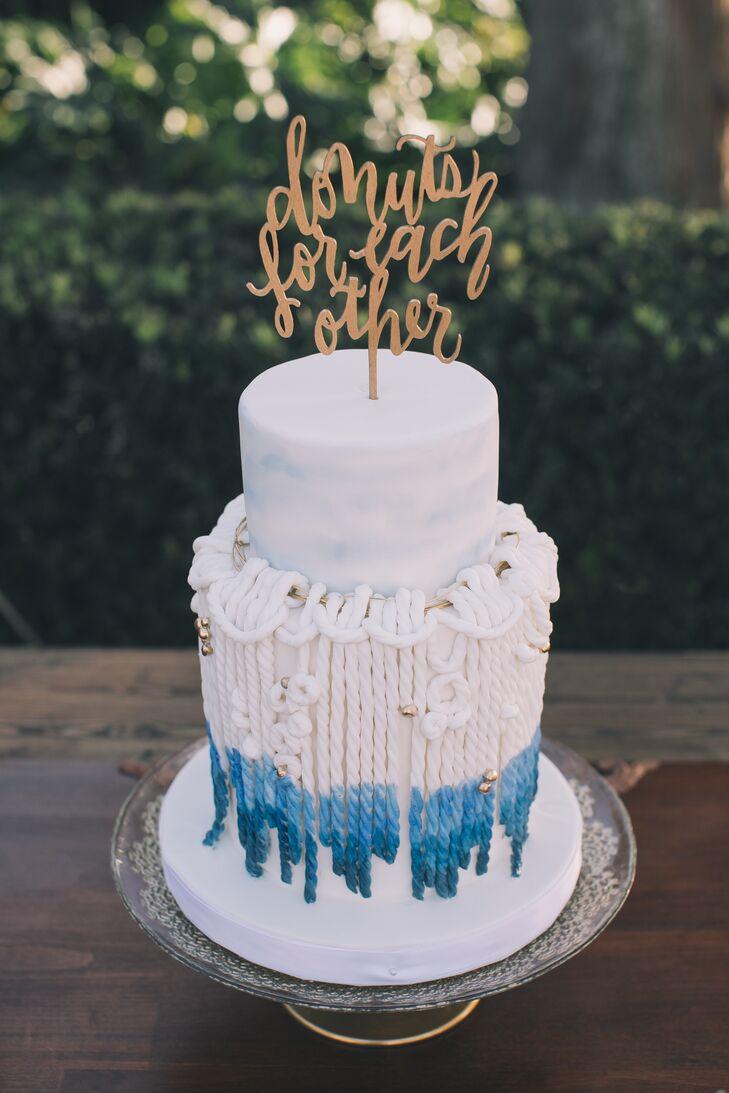 Macrame-Inspired Boho Wedding Cake with Cake Topper