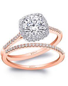 Coast Diamond Unique Round Cut Engagement Ring