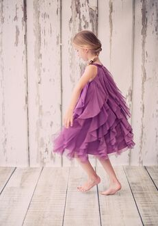 Kid's Dream 8055 Purple,Champagne,Ivory,White,Pink,Blue Flower Girl Dress