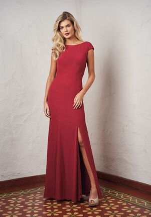 JASMINE P216060 Bateau Bridesmaid Dress