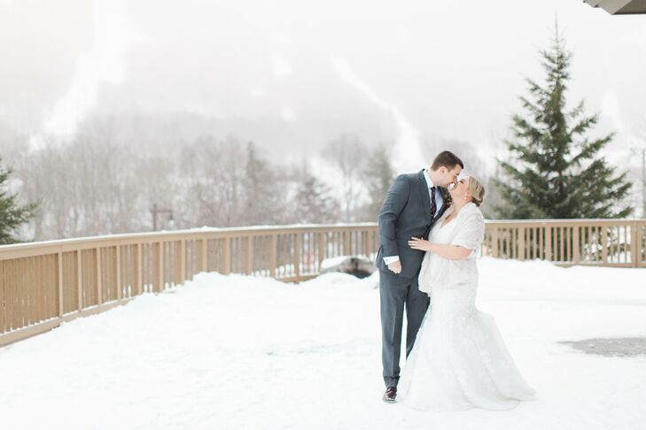 Couple at Stowe Mountain Lodge in Vermont