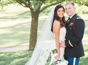 Kristi Koszewski (24 and in marketing) and Phillip Arnold (26 and a US Army officer) blended Greek Orthodox traditions with a hearty dose of military