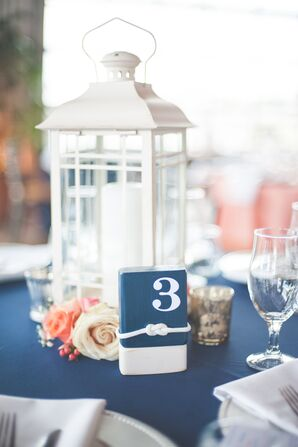 Nautical Table Numbers and Lanterns